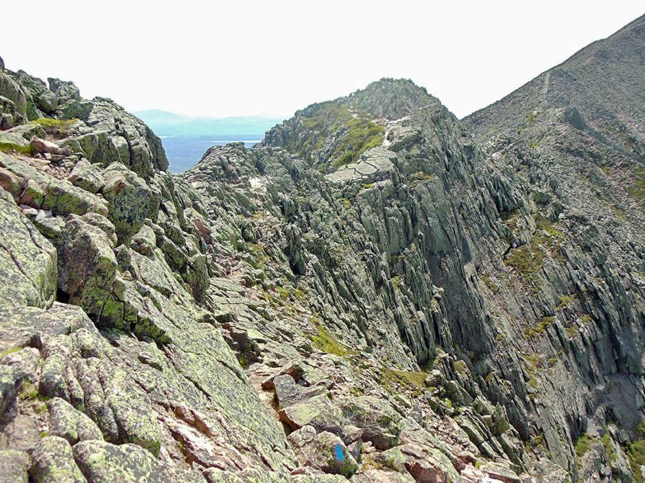 A ledge on the Katahdin Knife Edge trail.