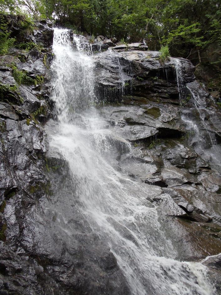 4dc4f8c74a2 Lone Mountain waterfall on Maine Appalachian Trail hike