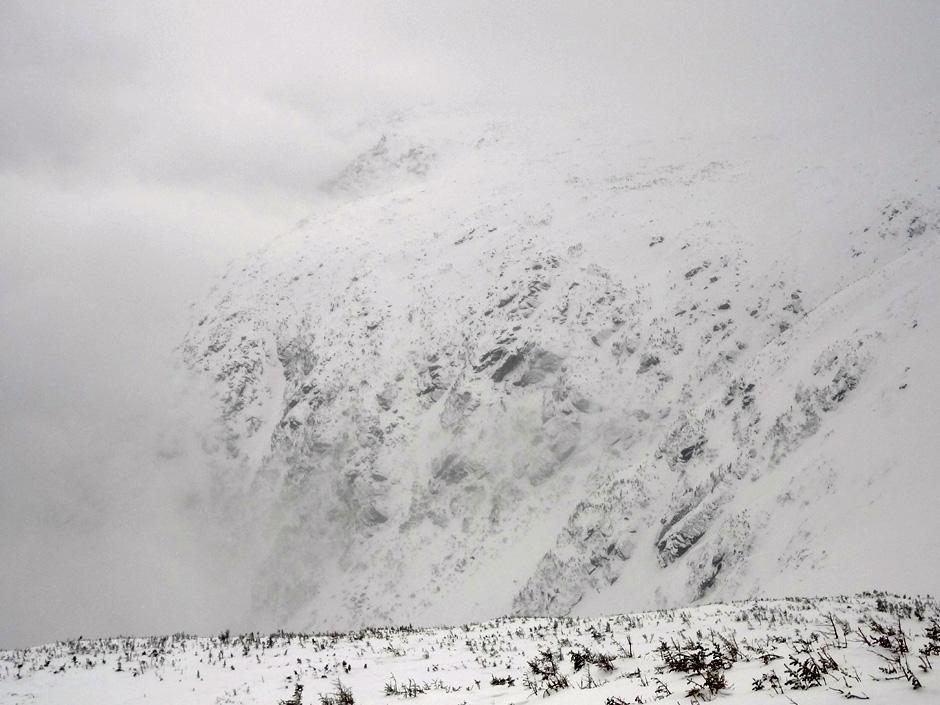 Mt. Washington Tuckerman Ravine Viewed from Lion Head trail in Winter