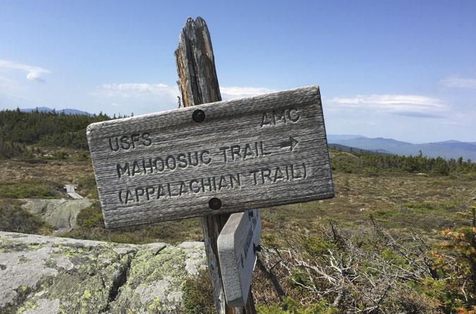 Mt. Success Mahoosuc Trail Sign